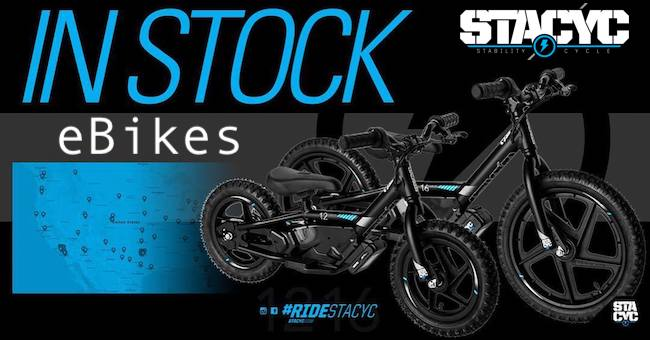 STACYC electric balance bikes here now